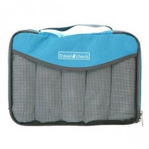Travel Check Luggage Organizer Bag – Blue