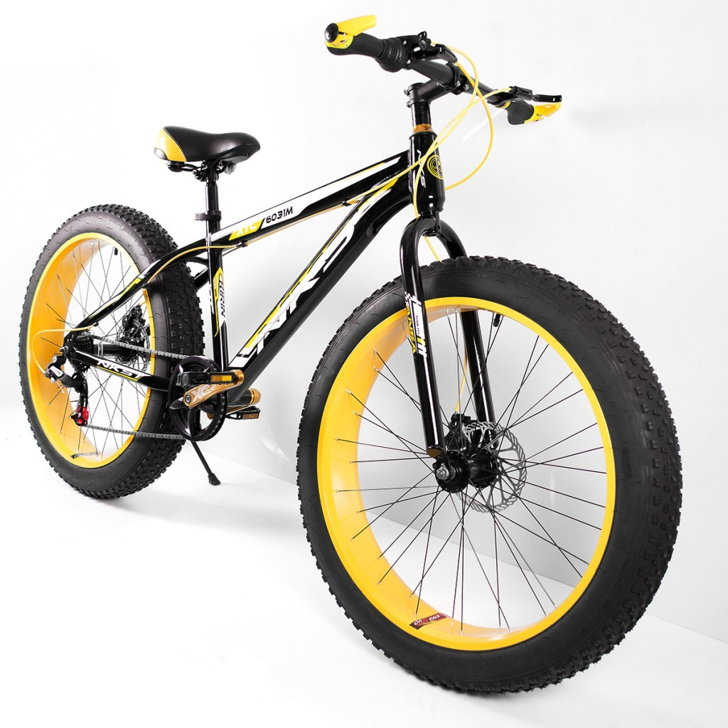 "NKS Kirin 26"" x 4"" Fat Mountain Bike Yellow/Black (PND-NKS-YB)"
