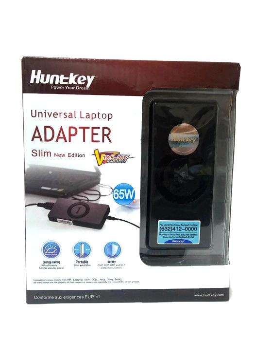 Huntkey 65W Universal Laptop Adapter Slim New Edition (Black)
