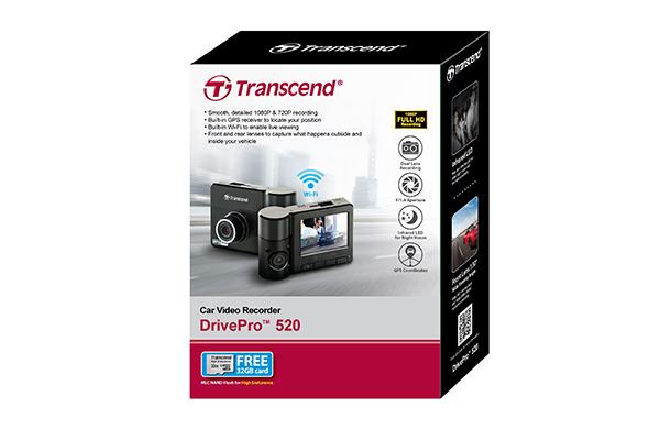 Transcend 520 DrivePro Car Video Recorder (Black)