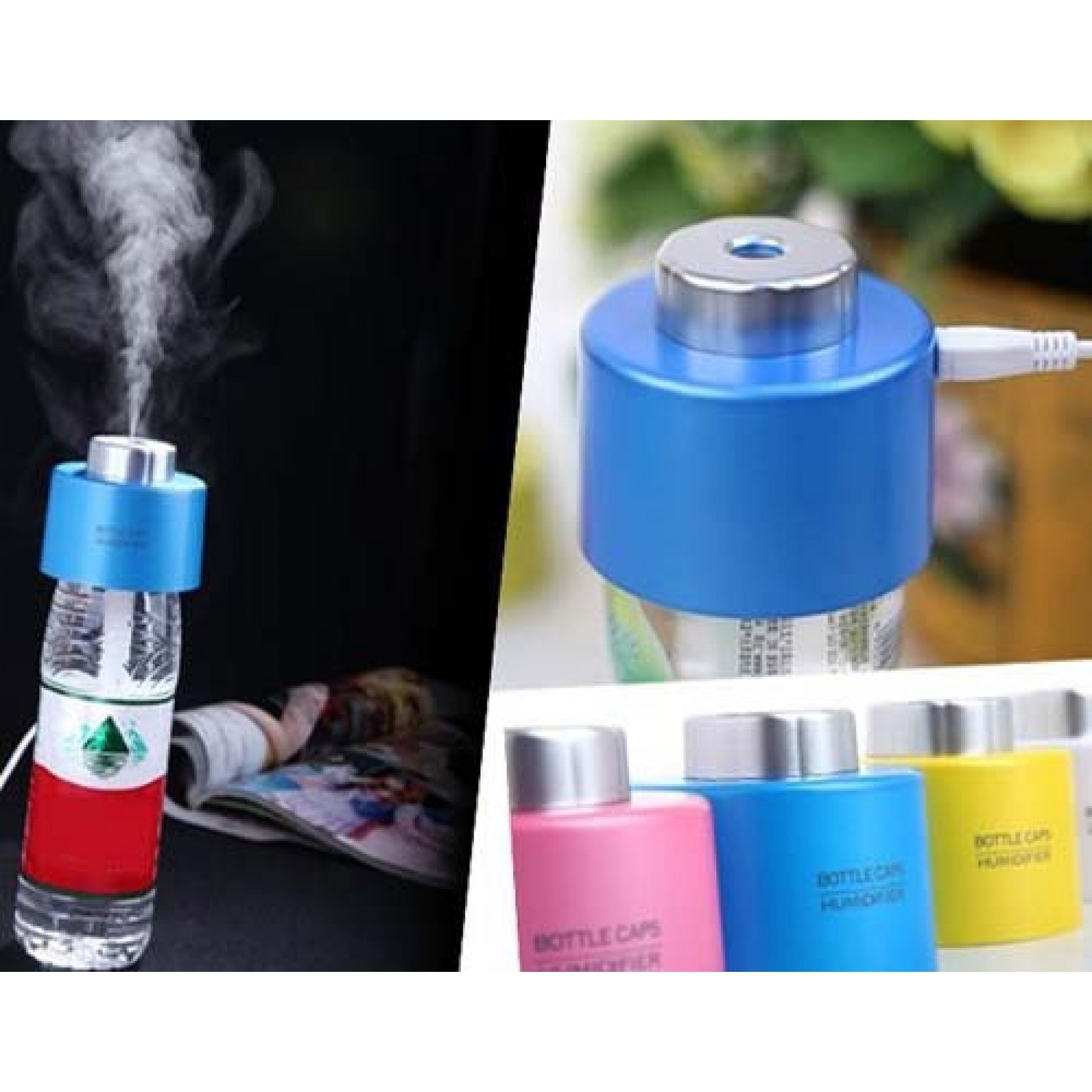 USB Bottle Cap Air Humidifier- Pink