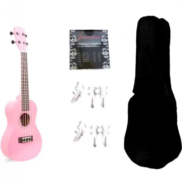 Jasmine Concert Packaged Colored Ukelele (Pink)