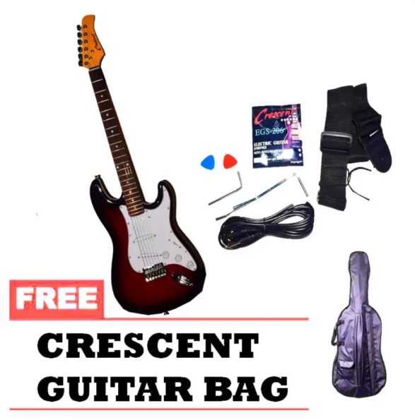 Crescent Electric Guitar (Red)