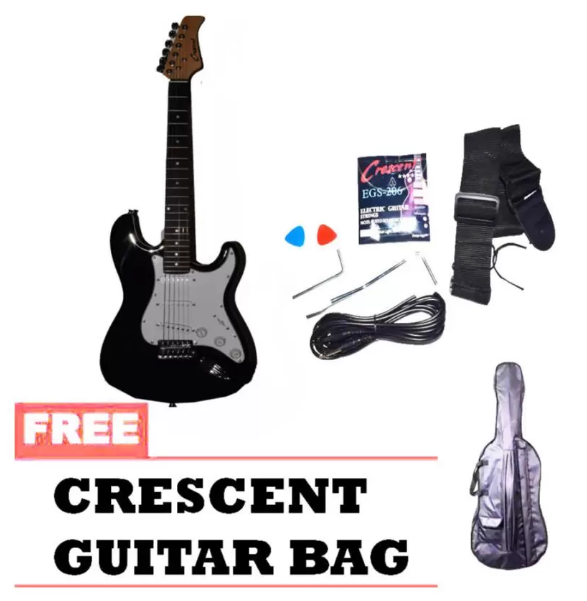 Crescent Electric Guitar (Black)