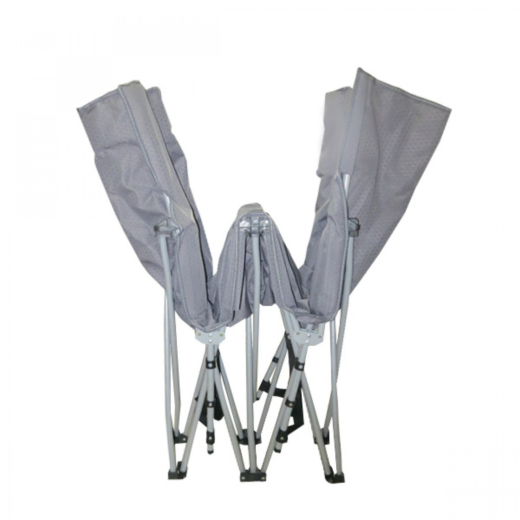 Portable folding bed in a bag -  Outdoor Portable Folding Bed Chair With Carry Bag Camp Gray