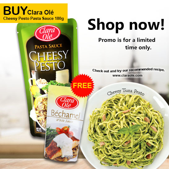 Buy Clara Olé  Cheesy Pesto Pasta Sauce 180g get FREE Clara Olé Béchamel White Sauce 200g