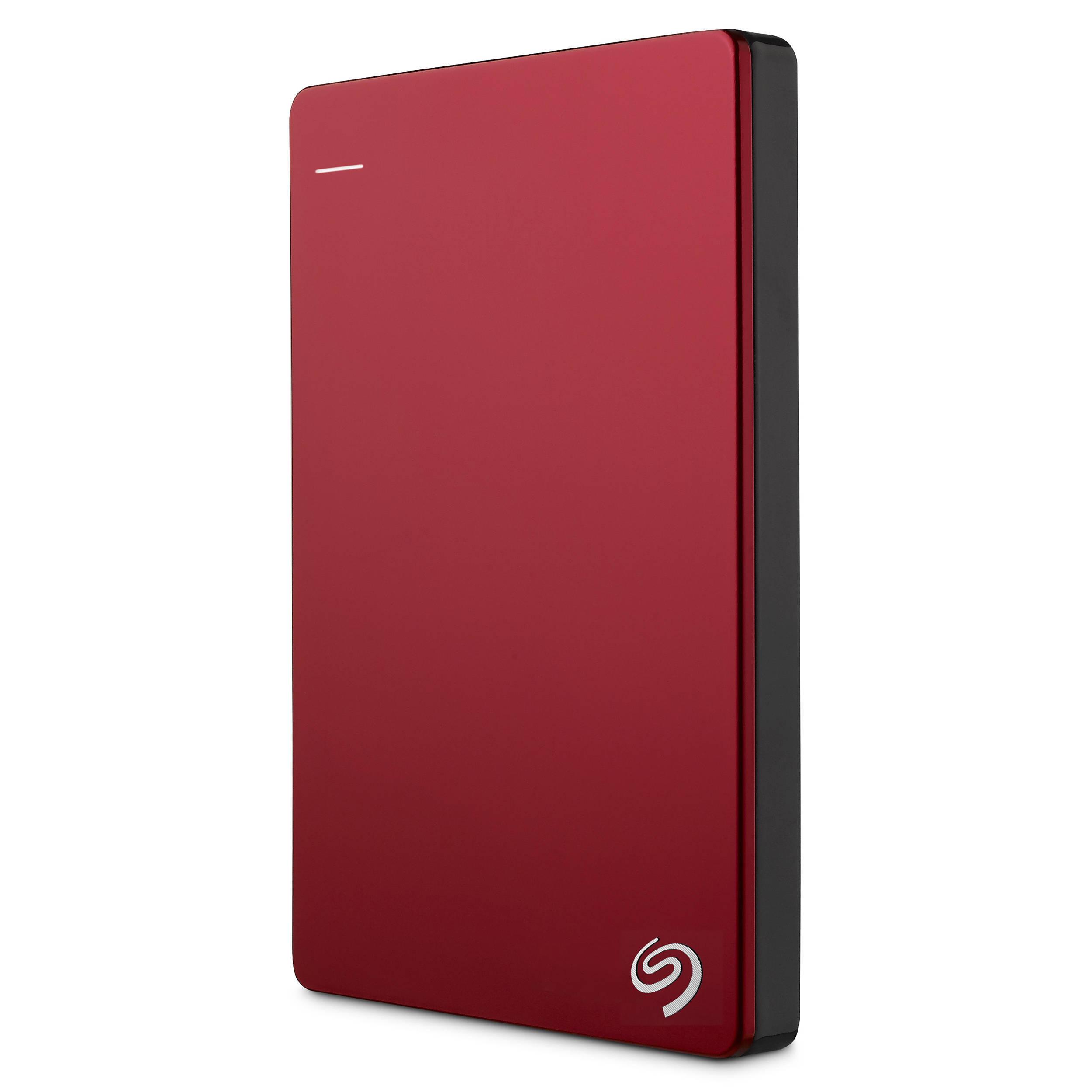 Seagate STDR1000303 1TB Slim Backup Plus Portable Drive (Red)