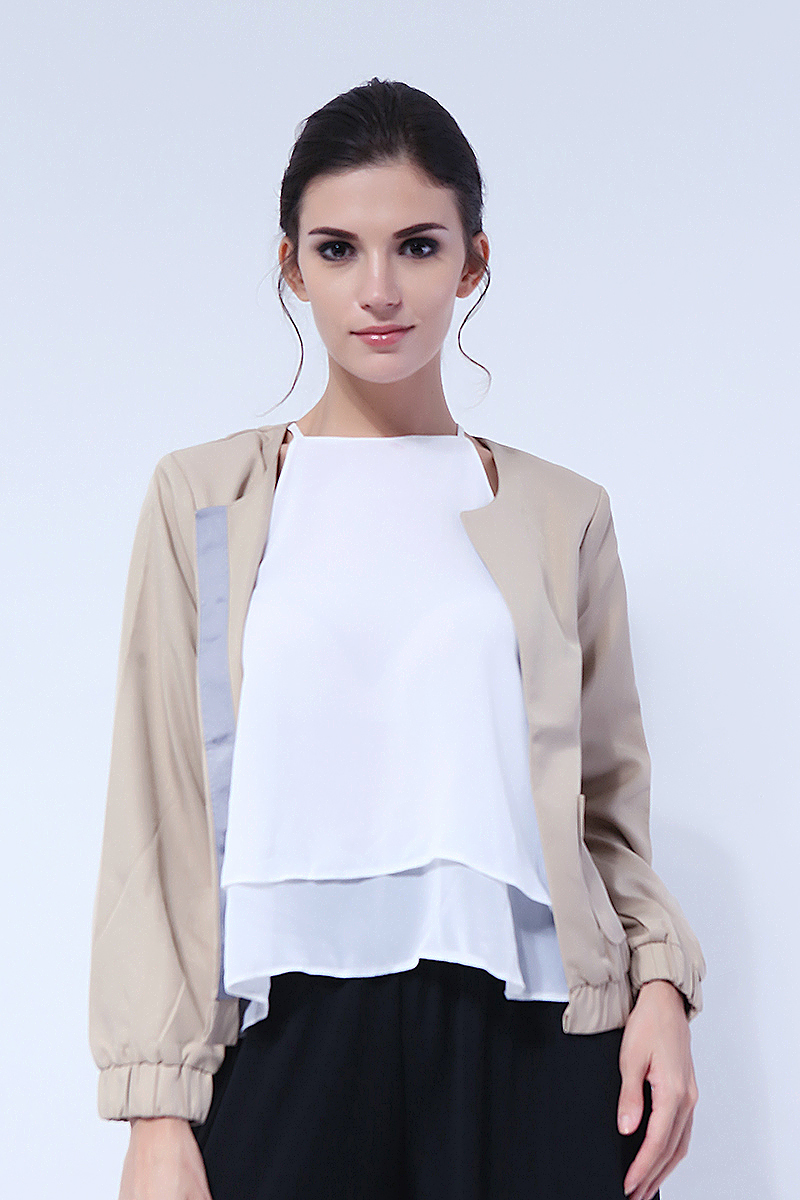 The Black Shop Beige Blazer Jacket (TBS885031)