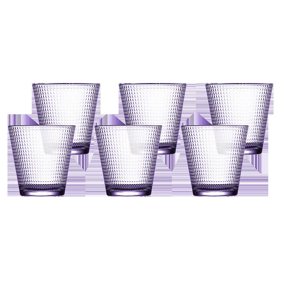 Pasabahce Generation Whisky 250cc 8oz, Set of 6 (Purple) (52300PRP)