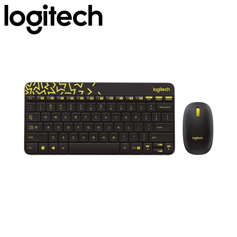 Logitech MK240 Nano Wireless Keyboard and Mouse Combo (Black/Chartreuse Yellow)