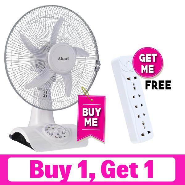 "12"" Rechargeable Oscillating Fan (Akari ARL-8012)"