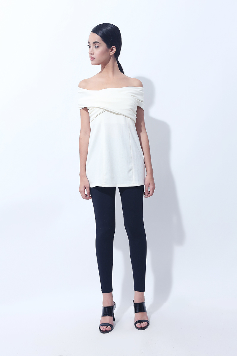 CANVAS BECK CUDLE TOP (White)