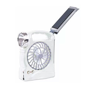 "LED Solar Rechargeable 5"" Mini Fan with Lantern (ARF-5867)"