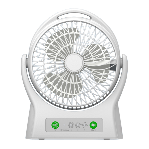 Rechargeable Desk Fan With Led Light (ARF-7605)