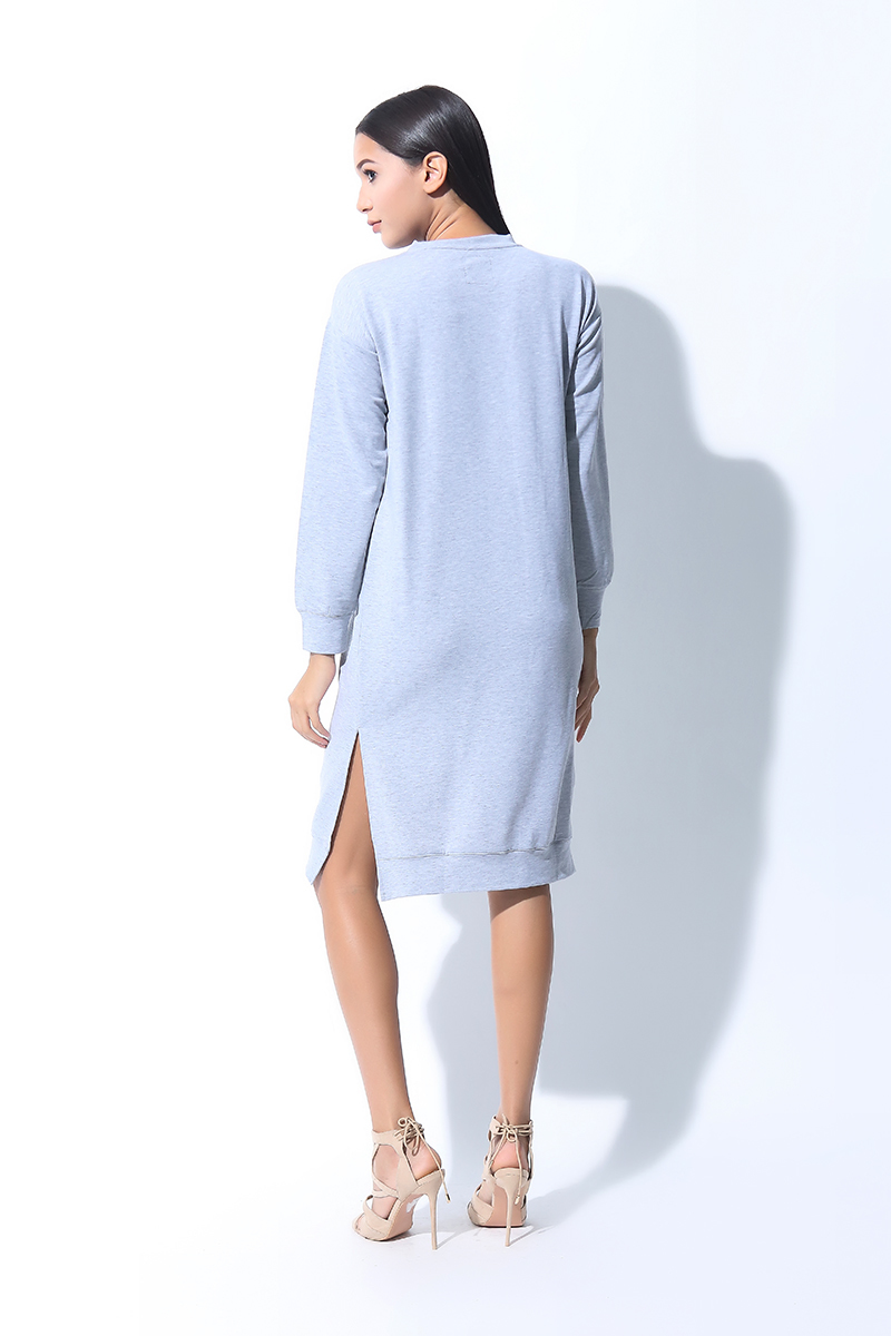 FOLDED AND HUNG  LS MOCK NECK SWEATER DRESS (L7BPTD09A)