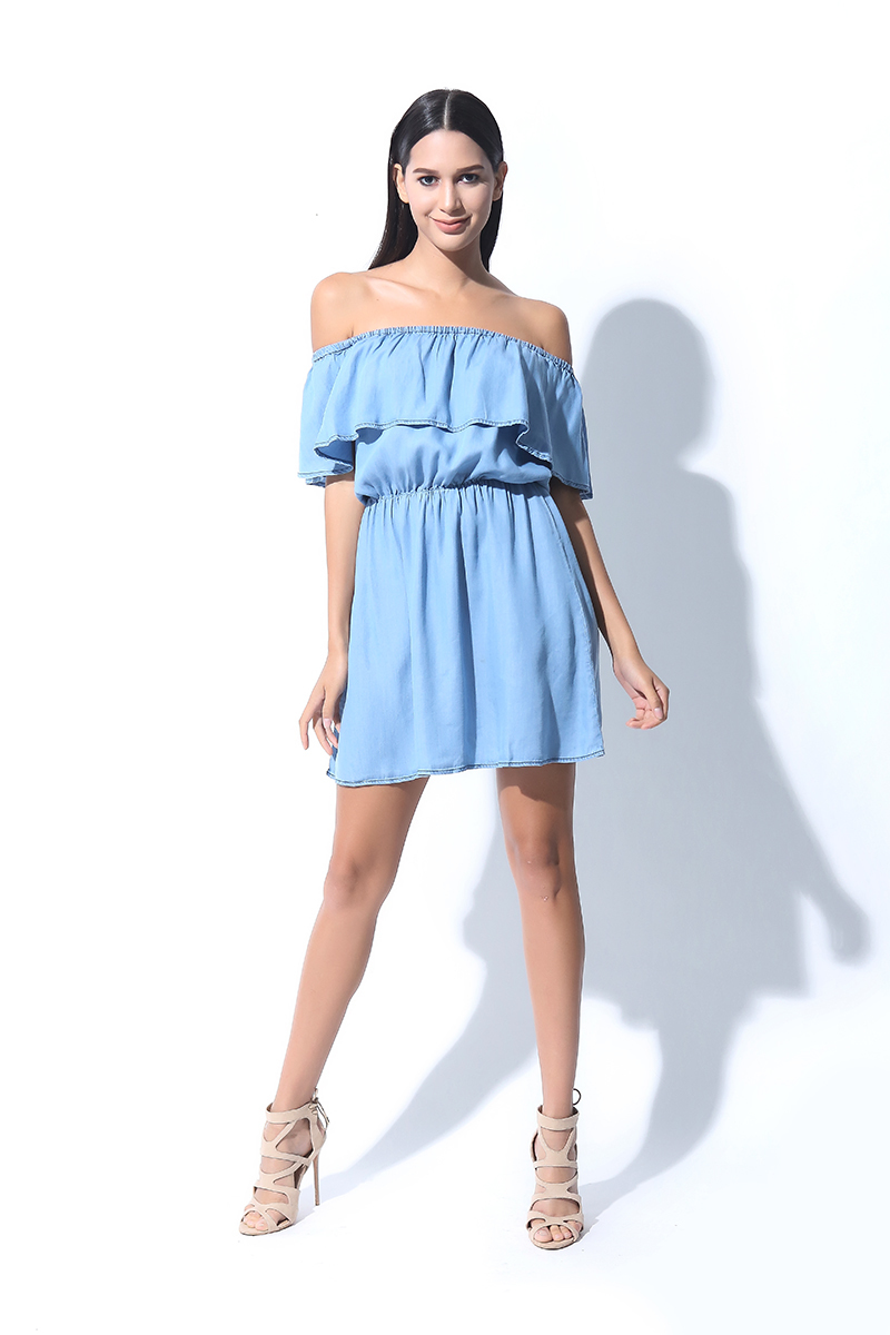 OFF SHOULDER ROMPER DRESS (L7BPTD11L)