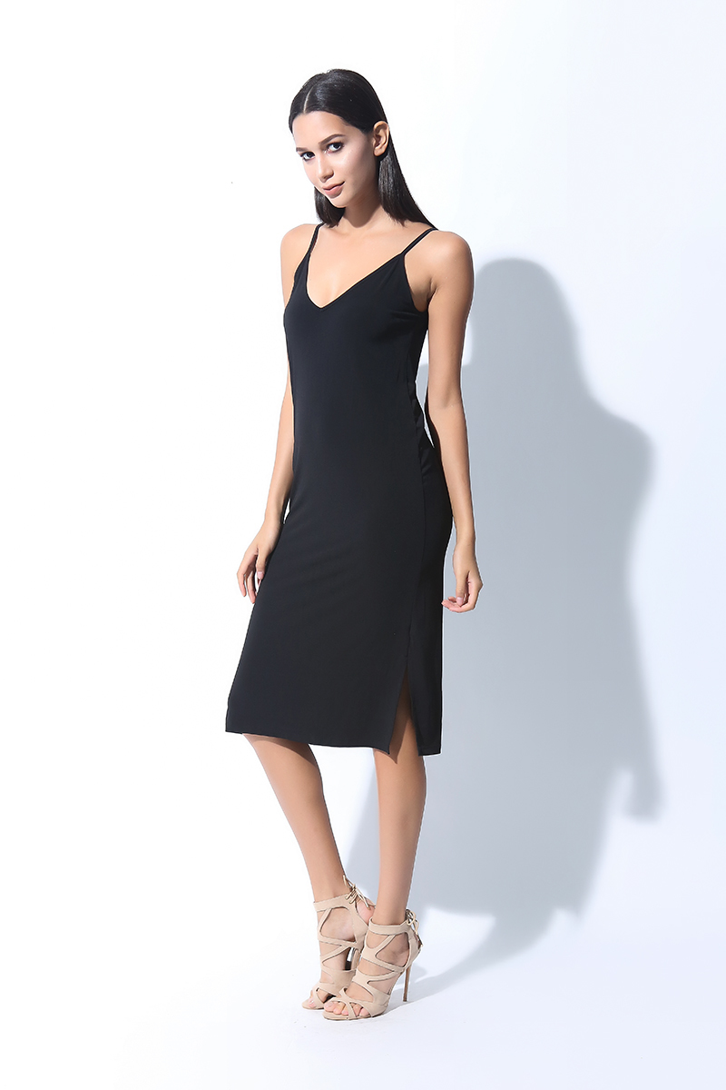 SL LONG STRAP DRESS (L7BCTD12B)