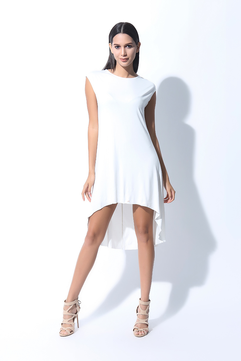 FOLDED AND HUNG  SS RN TRAPEZE DRESS (L7BCTD04W)