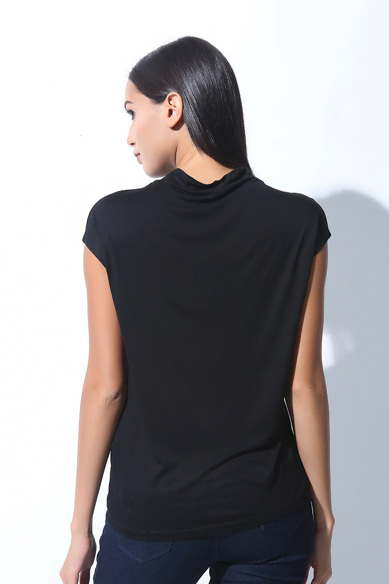 FOLDED AND HUNG  SL MOCK NECK (L7BCTT07B)