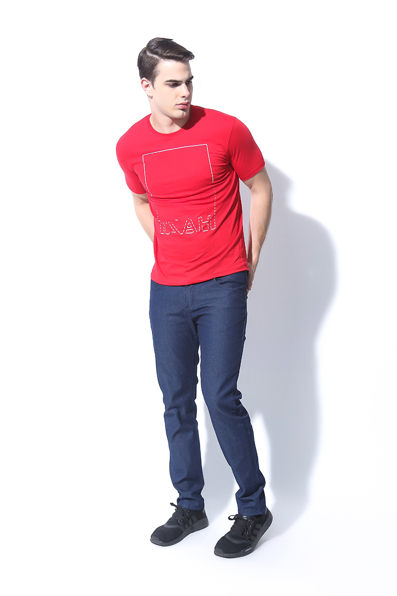 FOLDED AND HUNG MENS TOPS RED (M7SETT47R)