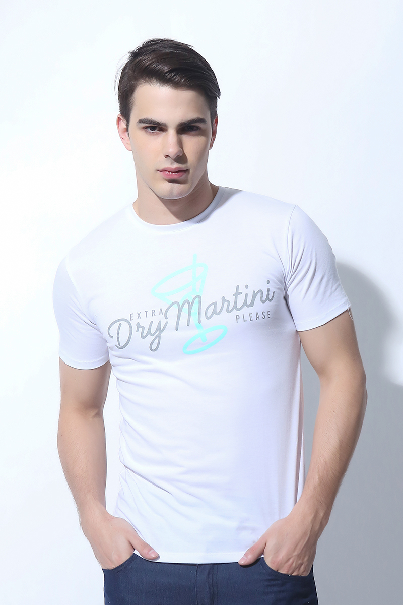 MENS TOPS WHITE (M7SETT54W)