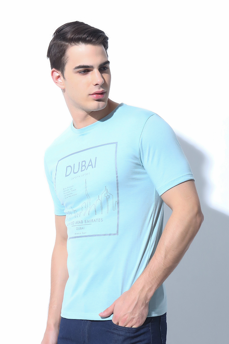 MENS TOPS LIGHT BLUE (M7SETT64L)