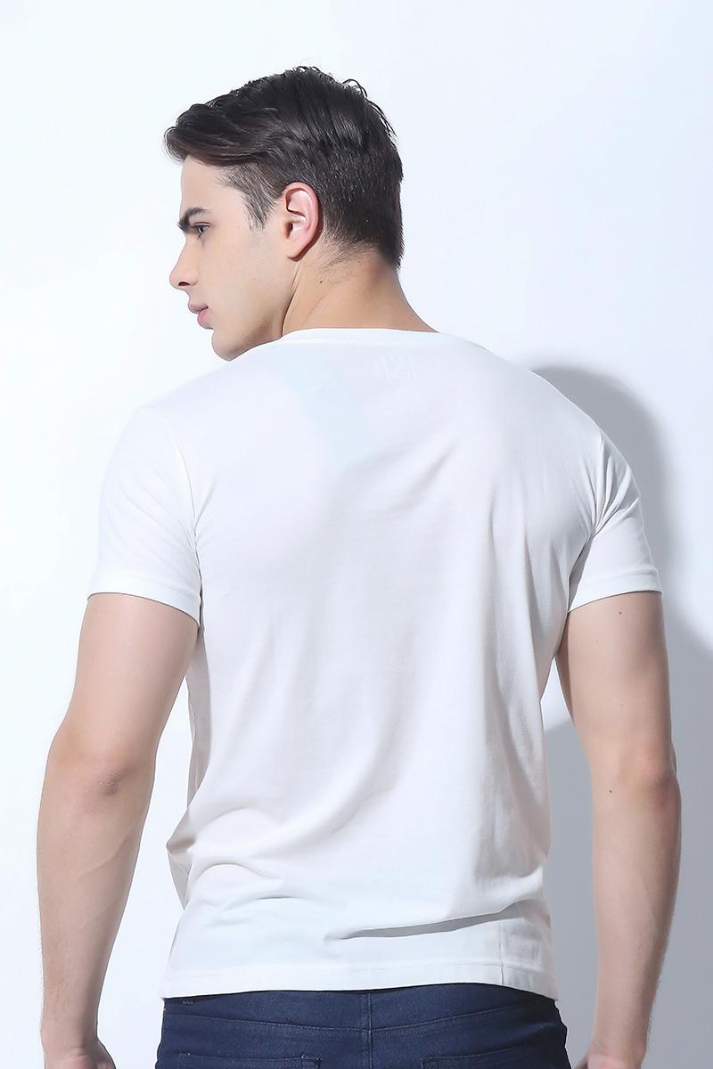 MENS TOPS BRIGHT WHITE (M6HETT09W)