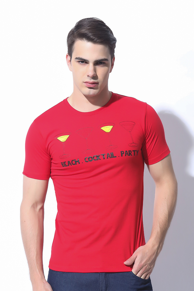 FOLDED AND HUNG MENS TOPS RED (M7SETT52R)