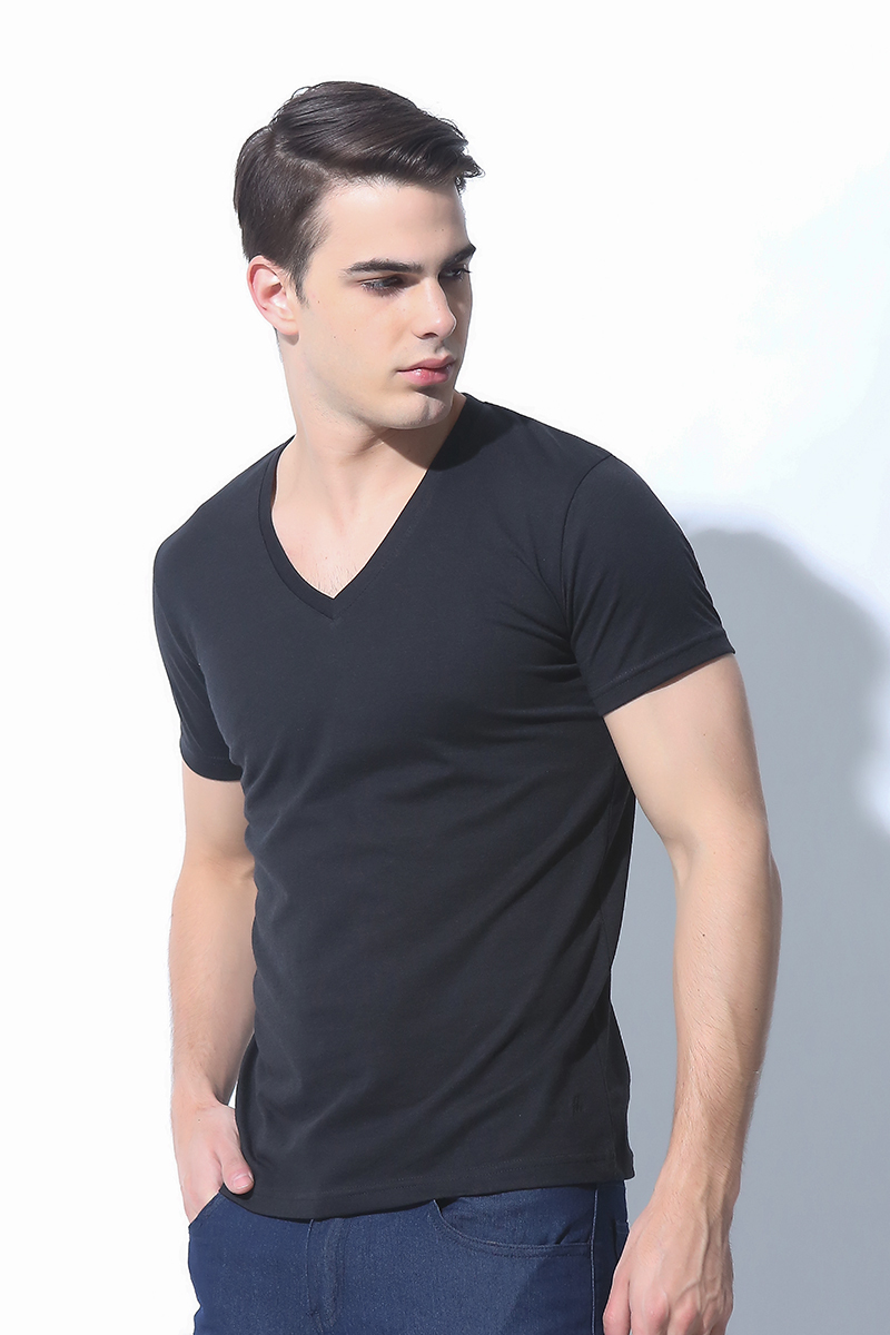 MENS TOPS JET BLACK (M6HETT10B)