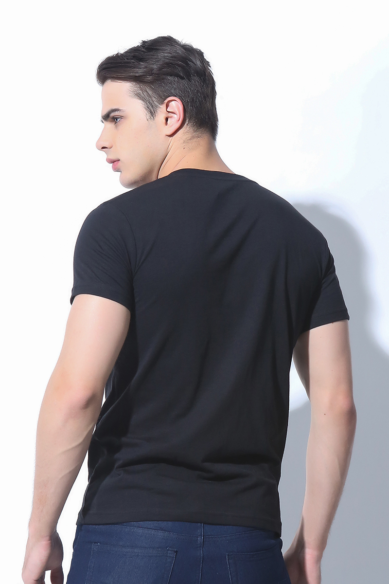FOLDED AND HUNG MENS TOPS JET BLACK (M6HETT10B)