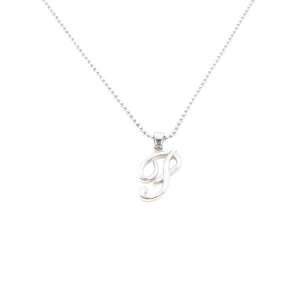 Silverworks X1774 Letter P Necklace