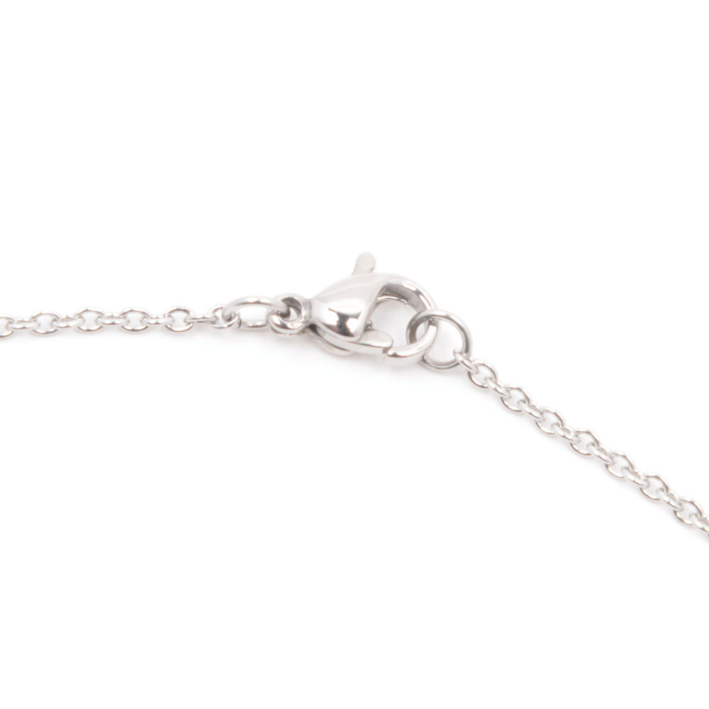 Silverworks X1789 Letter E Necklace (Silver)
