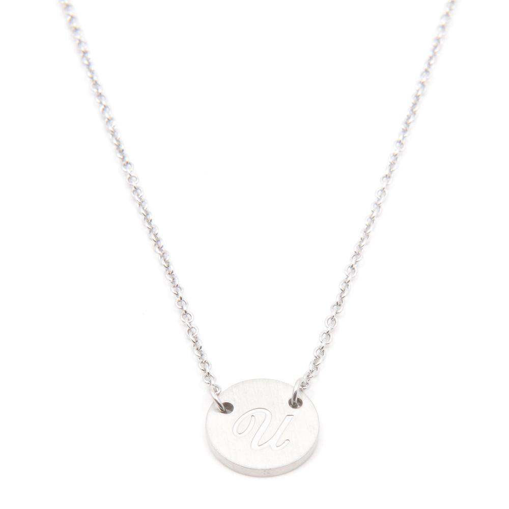 Silverworks X1805 Letter U Necklace