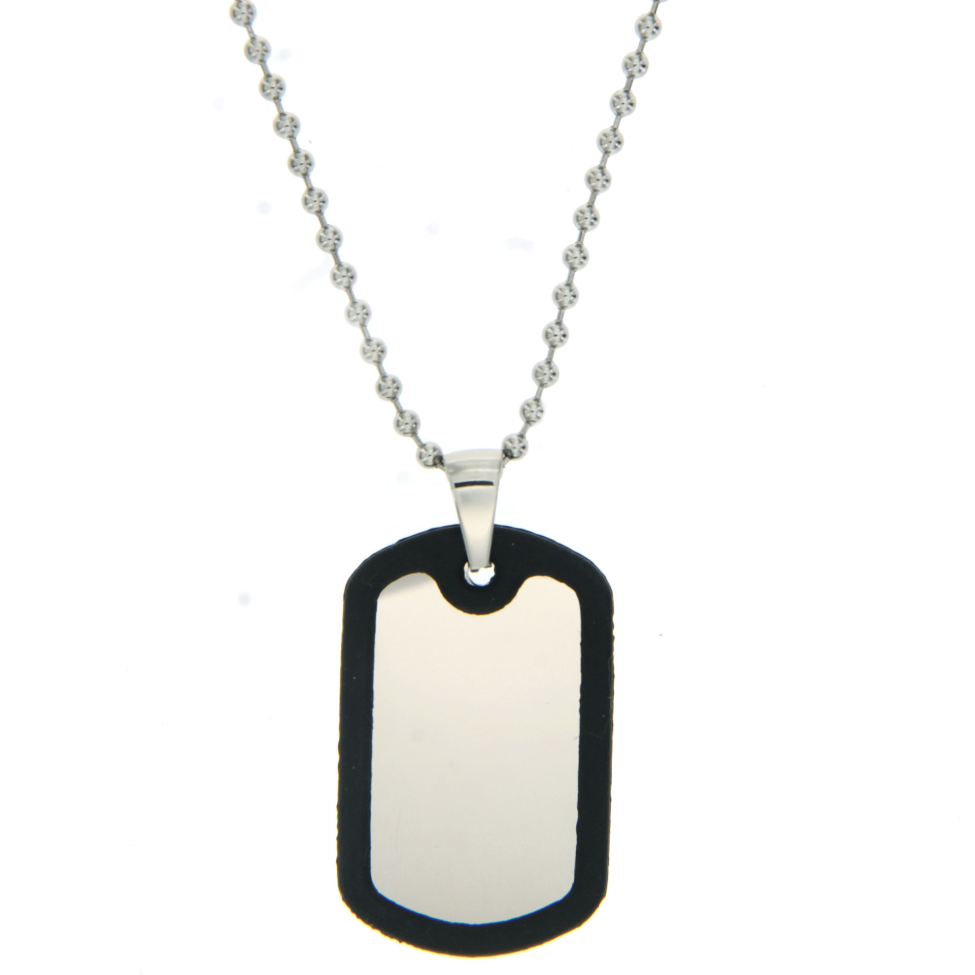 SILVERWORKS X1868 RUBBER DOGTAG WITH BALLSCHAIN