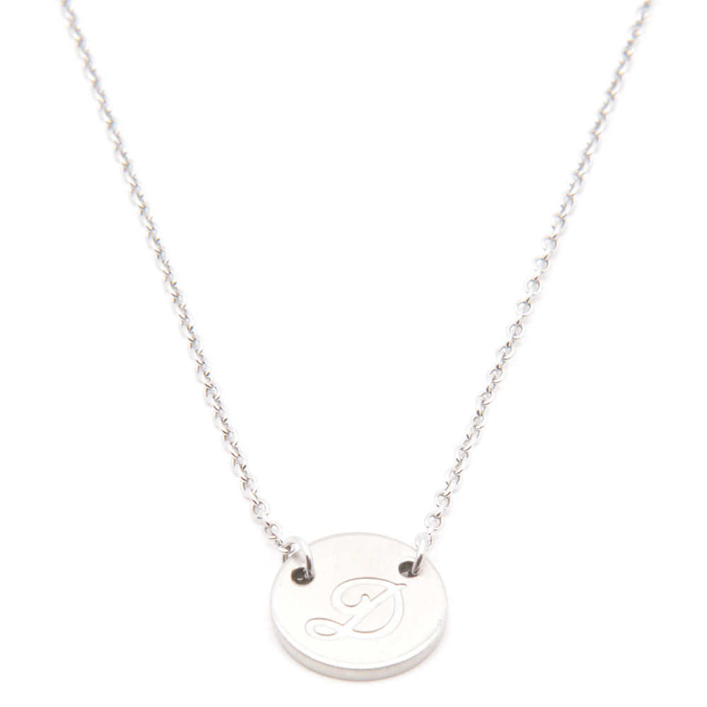Silverworks X1788 Letter D Necklace (Silver)