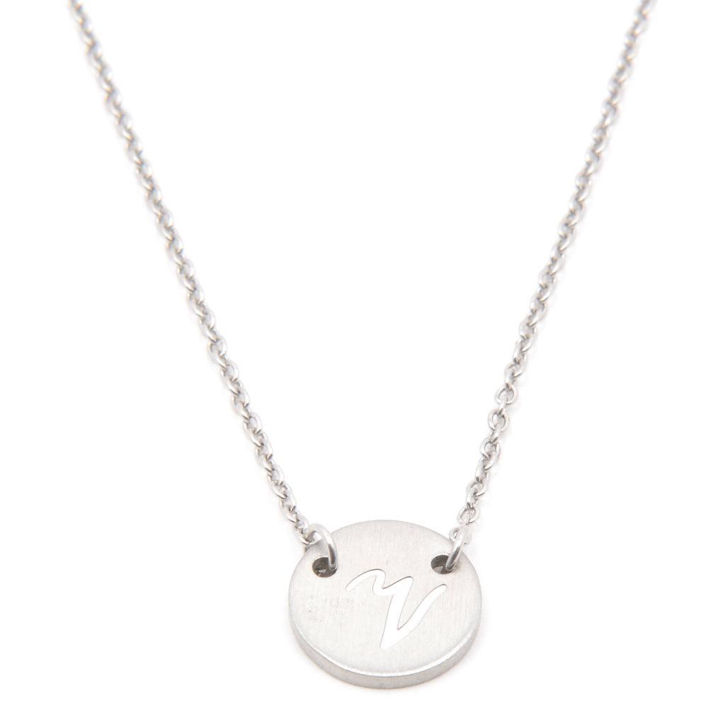 Silverworks X1806 Letter V Necklace