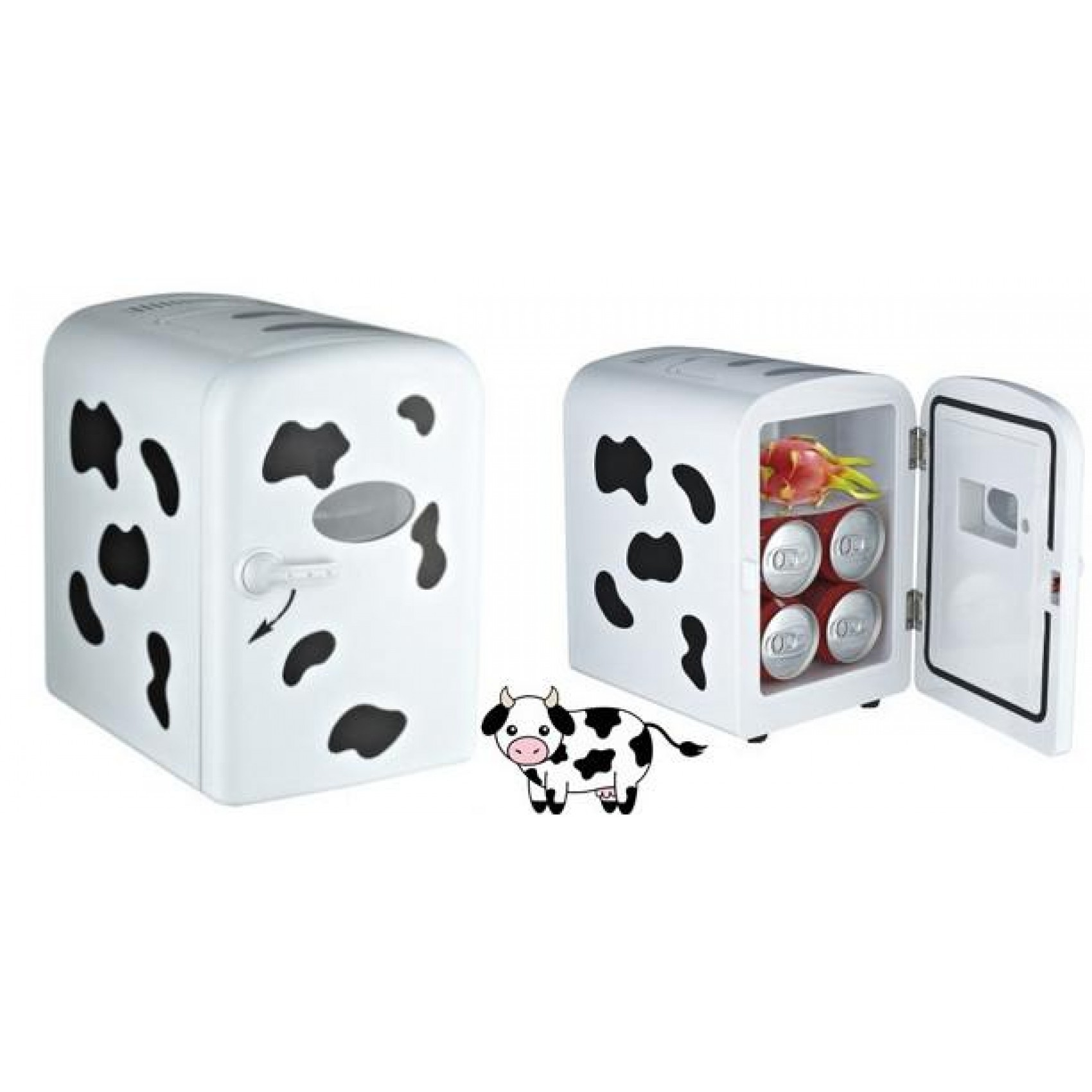 4L Milk Cow Portable Mini Fridge Ref Cooler Warmer For Car Home And Office