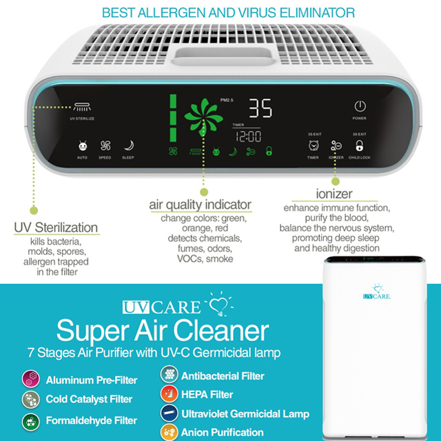 UV Care Super Air Cleaner: UV Care Super Air Cleaner (7-Stage)