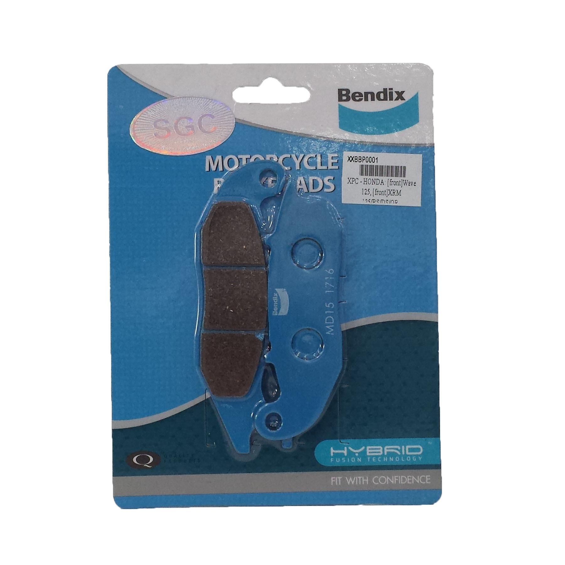 Wave 125, XRM110, SKYDRIVE - BENDIX BRAKE DISC PADS FRONT - MD15