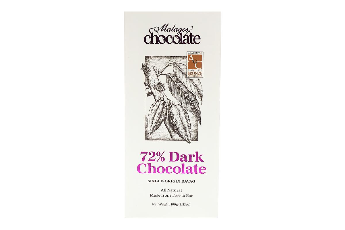 Malagos Ventures 72 % Dark Chocolate 100gms