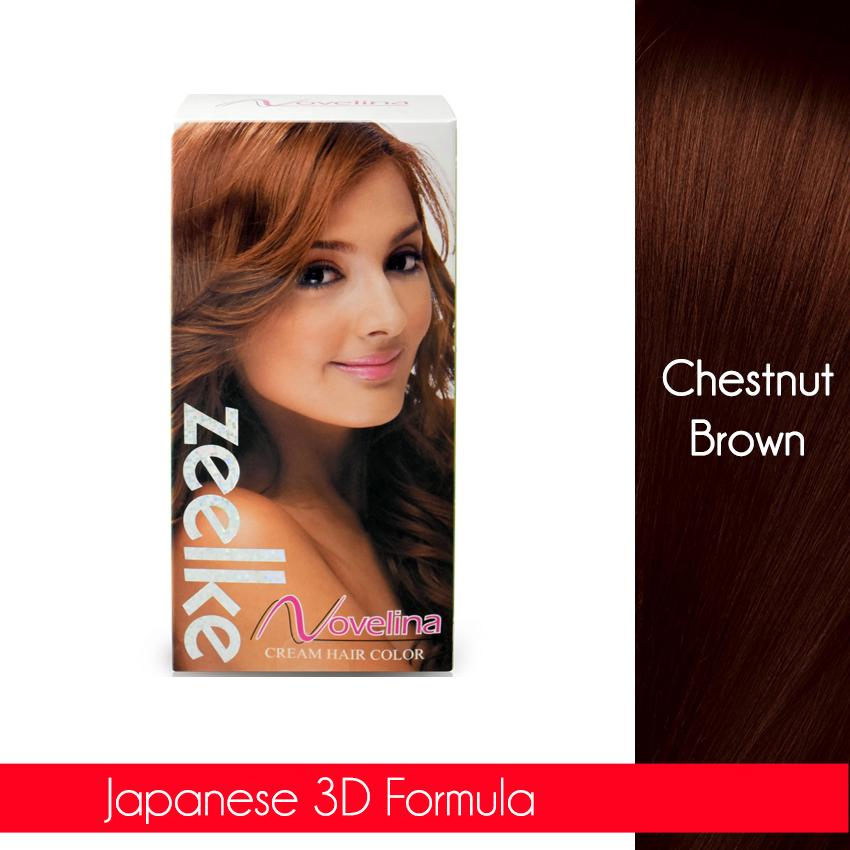 Novelina Zeelke Cream Hair Color Chestnut Brown No 5