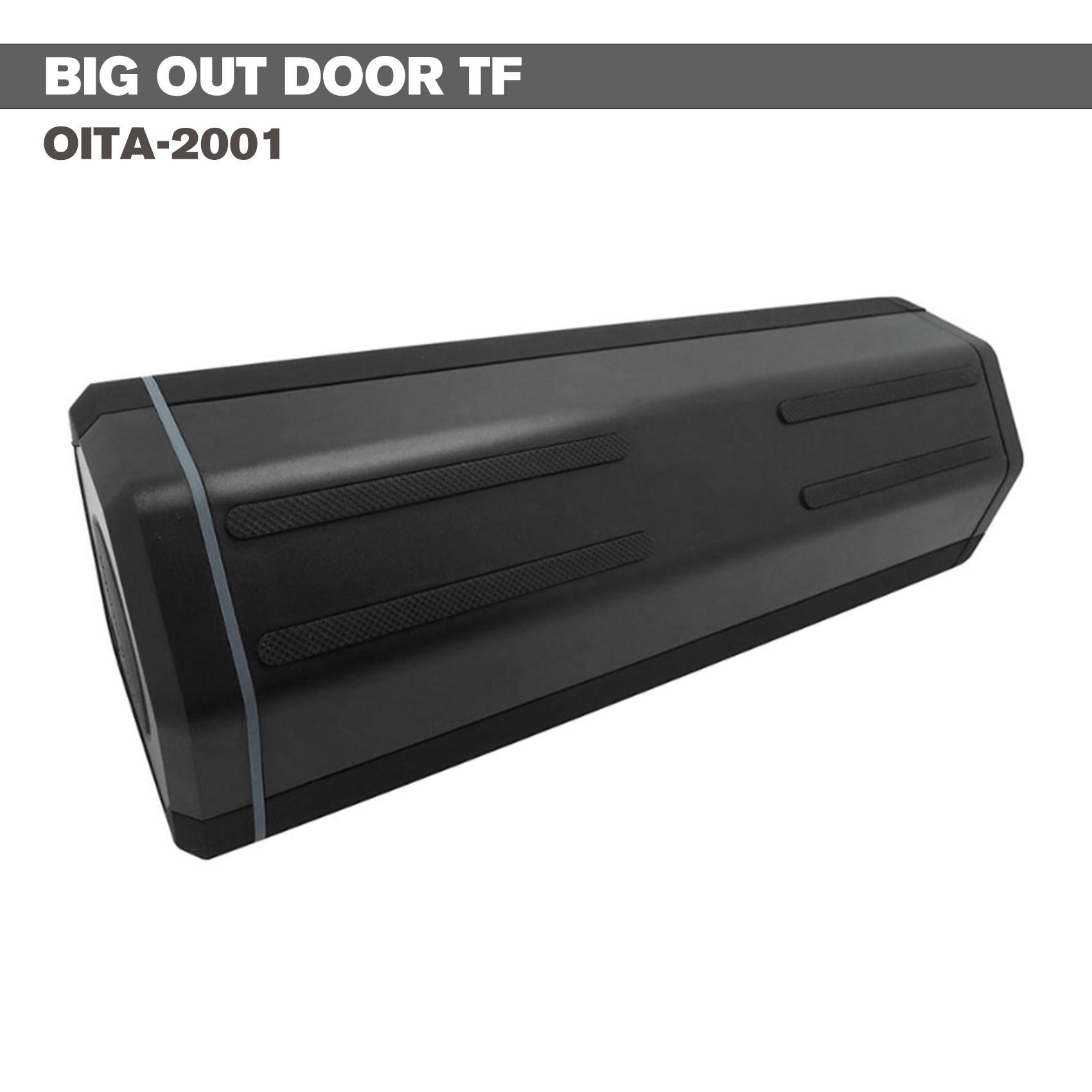 Outdoor Bluetooth Speaker With 2000 MAH Powerbank - Black