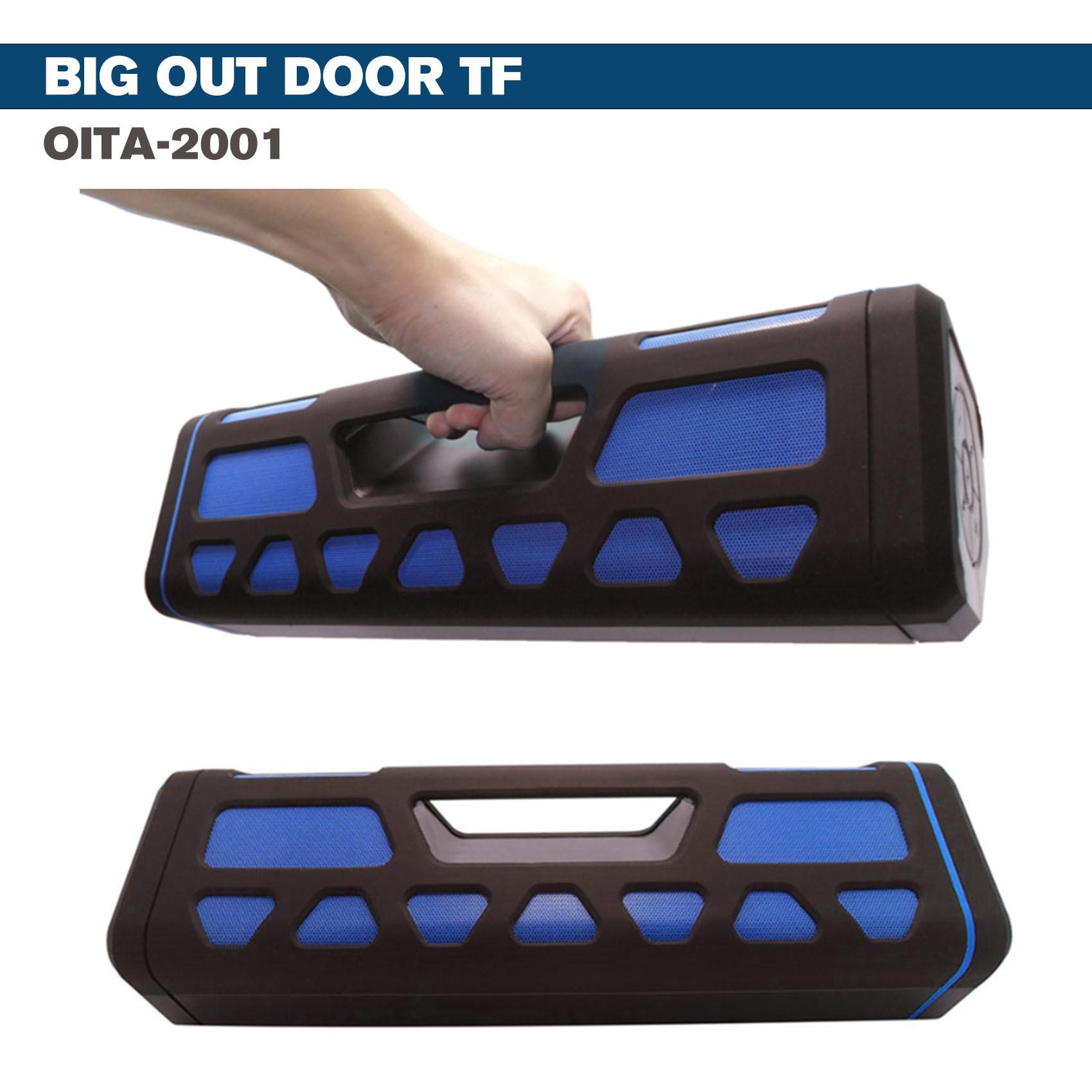 Outdoor Bluetooth Speaker With 2000 MAH Powerbank - Blue