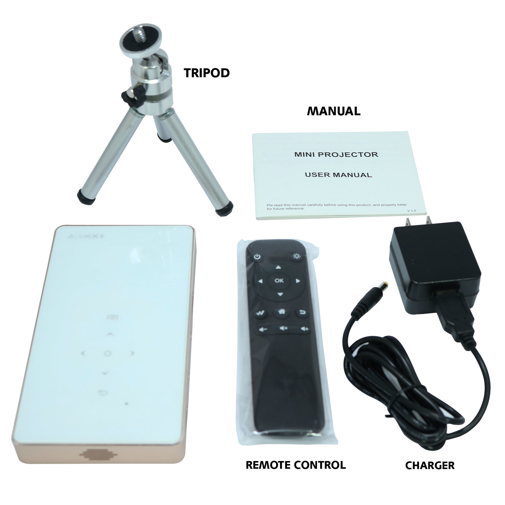 Mini DLP Smart Projector Android 1200 lumens - Gold
