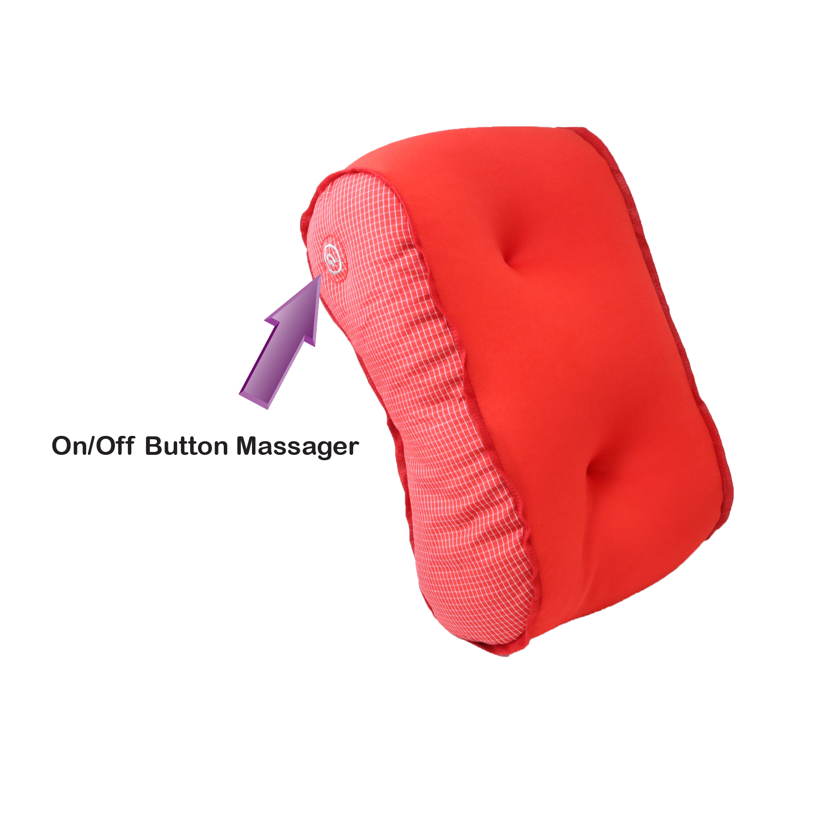 Vibrating Microbead Massage Pillow - Red