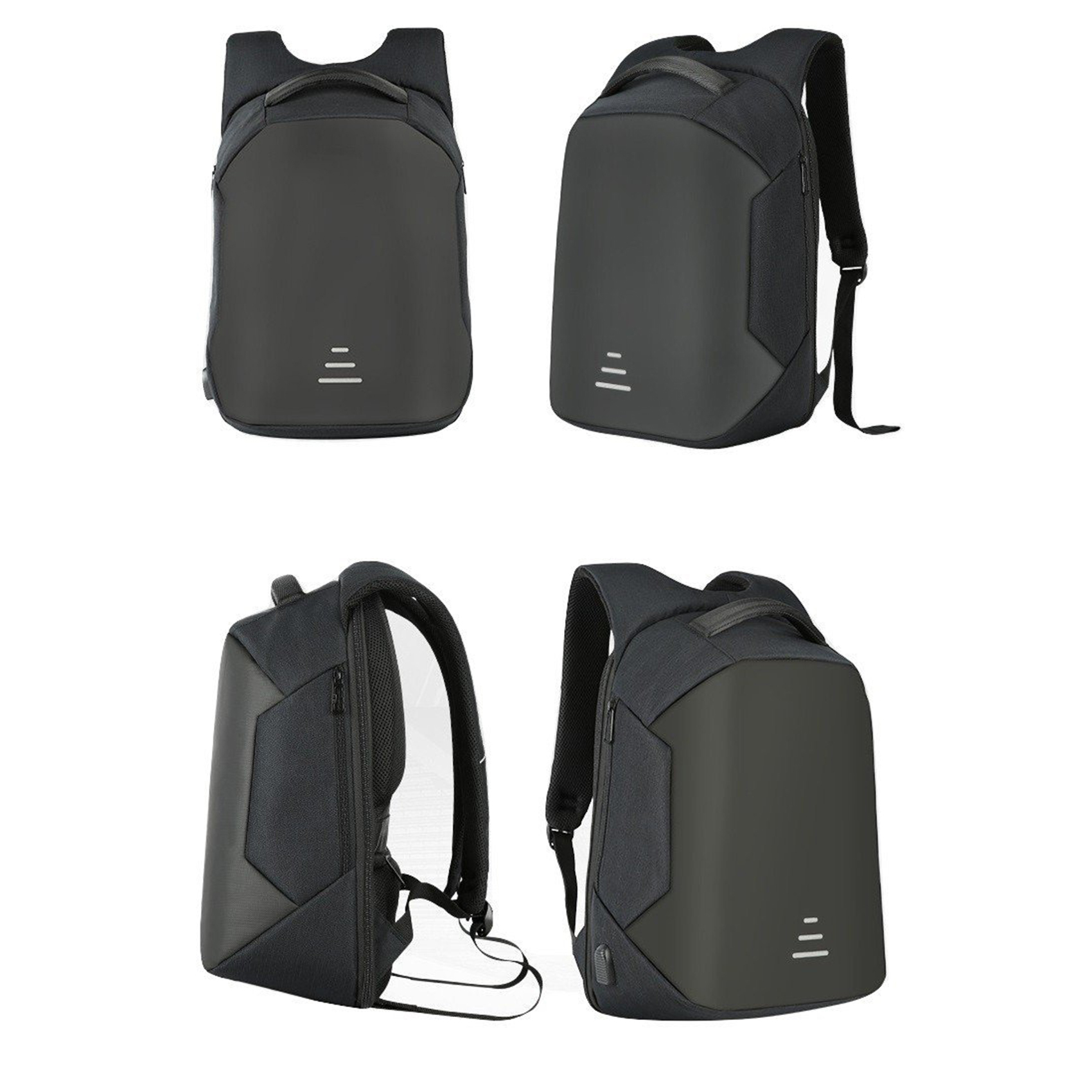 Sweet Tourist Anti Theft Backpack With Powerbank USB Output - Black