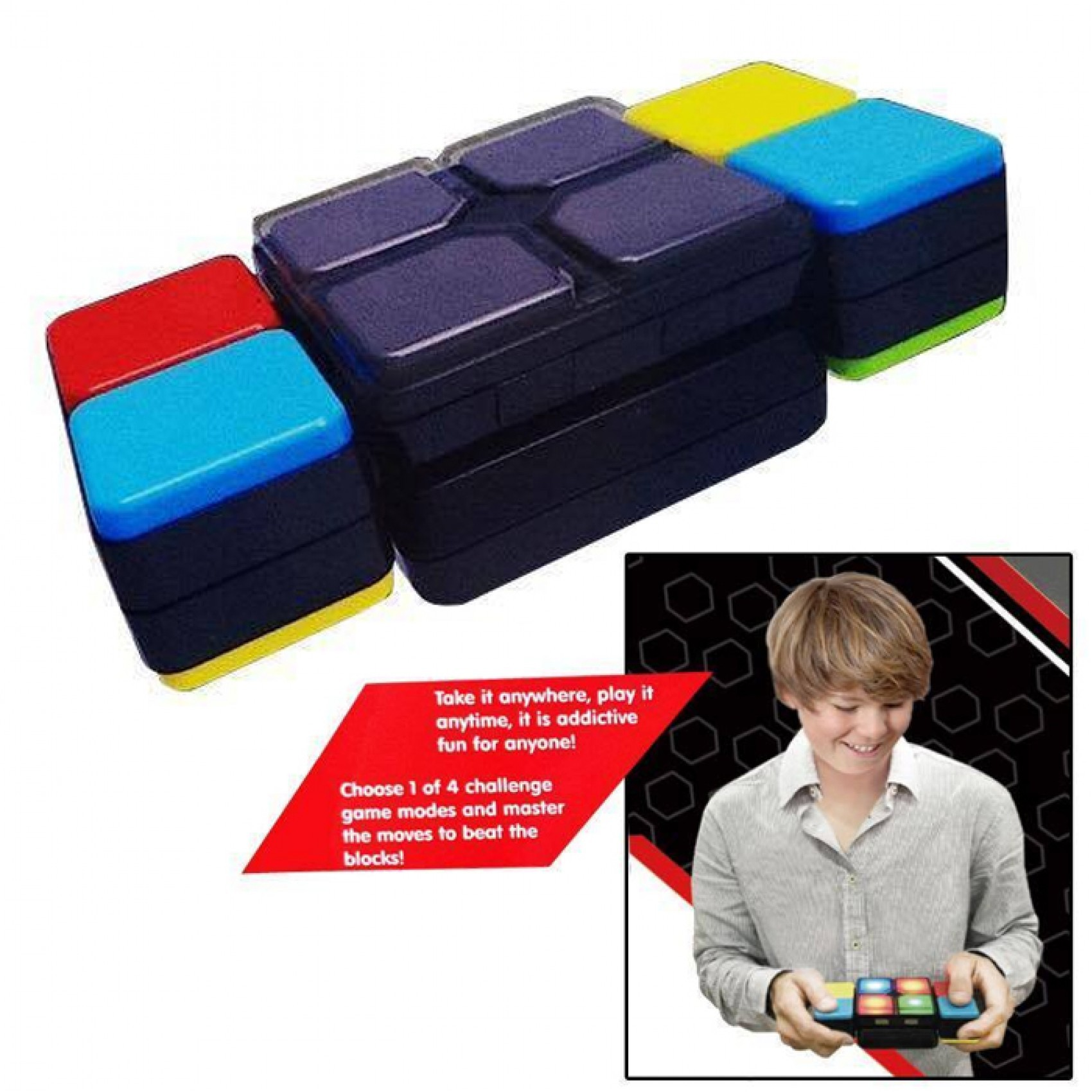 Brainnovative Digital Game Magic Cube Toy with 4 Game Modes - Black