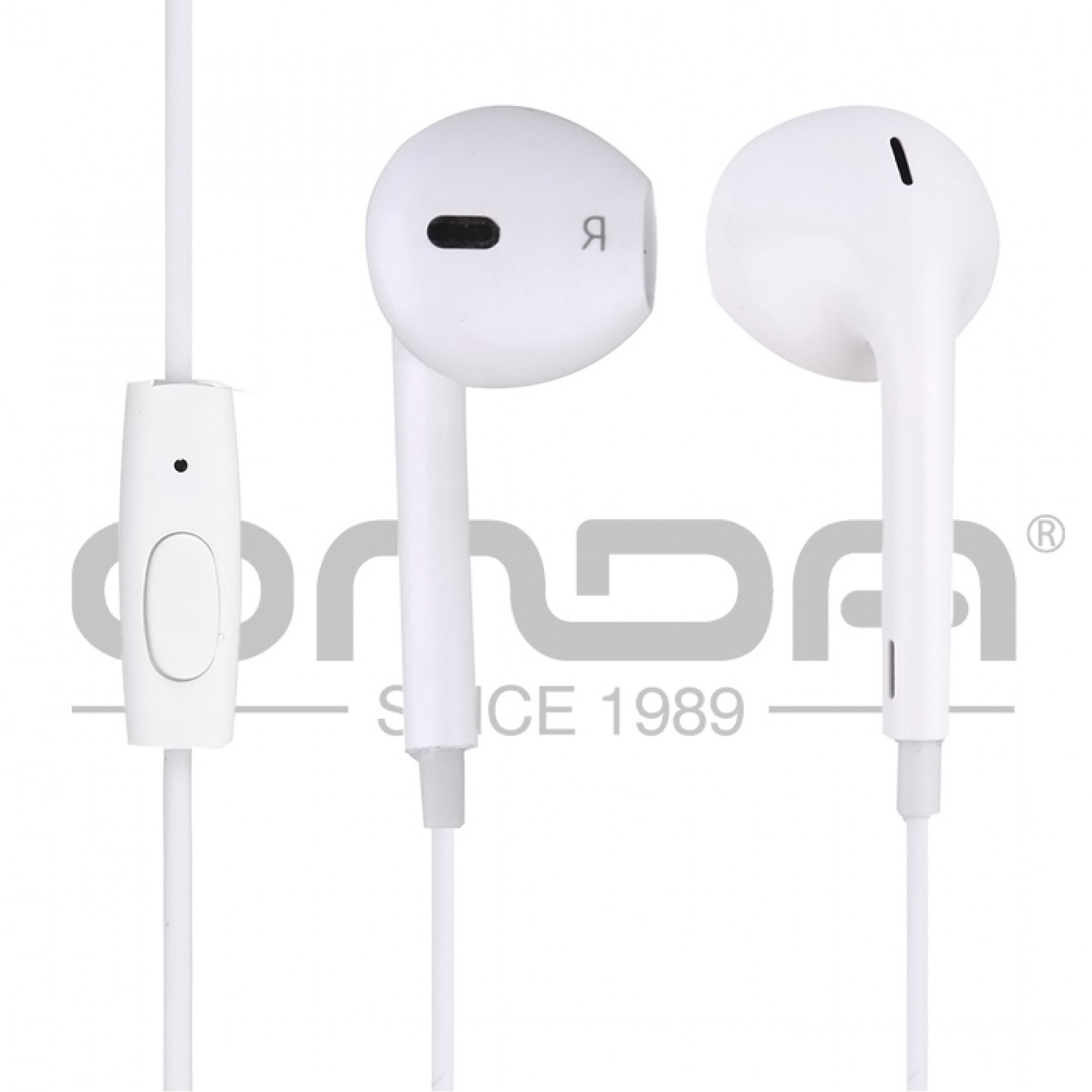 Onda AD202 Bean Type Earphone With Wire Control - White