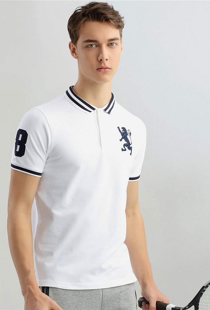 8886264e GIORDANO MEN'S LION POLO | For Sale Online at Takatack.com | Up to ...