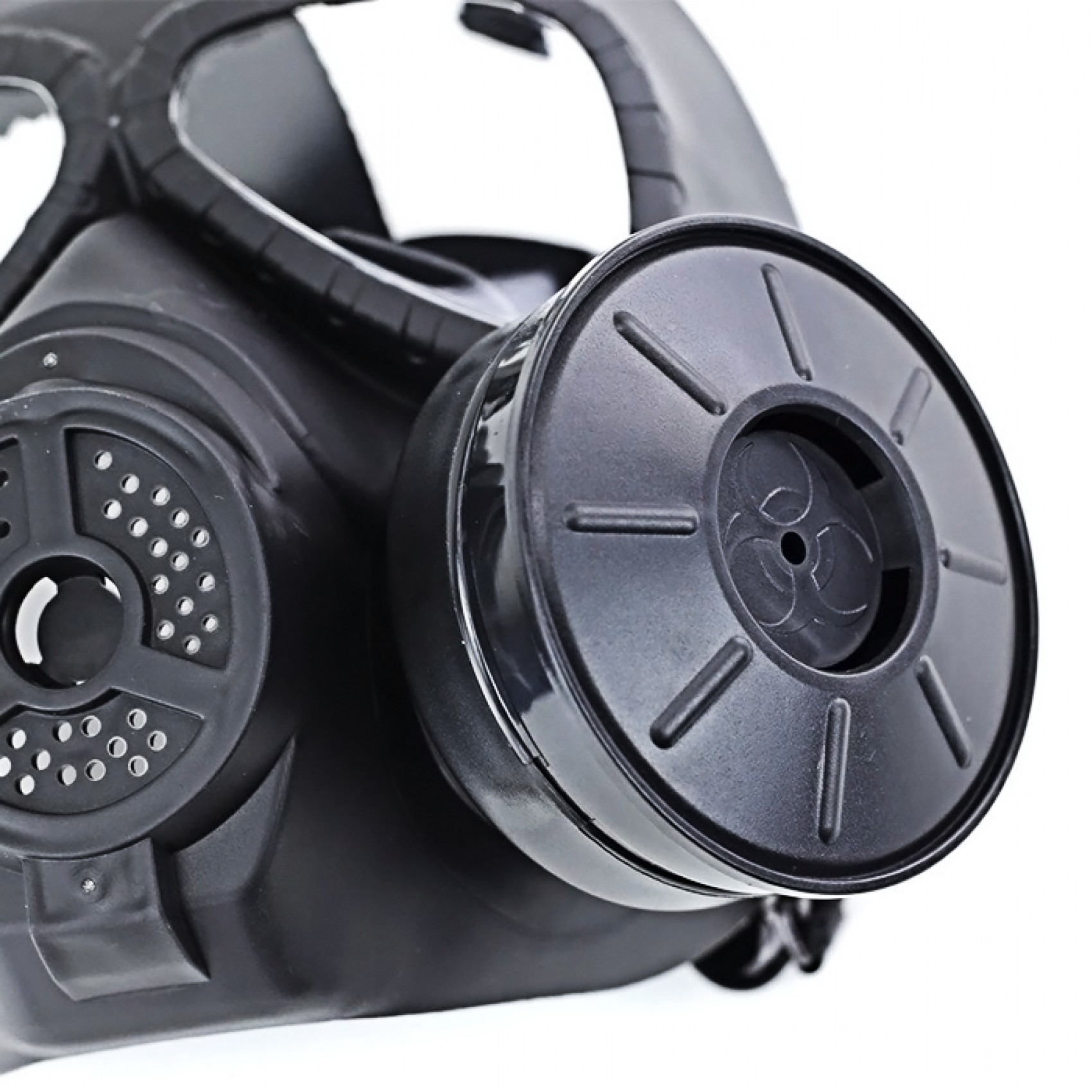 Tactical Toxic Gas Mask Activated Carbon Military Respirator - Black